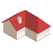 Dach dwuspadowy typu L